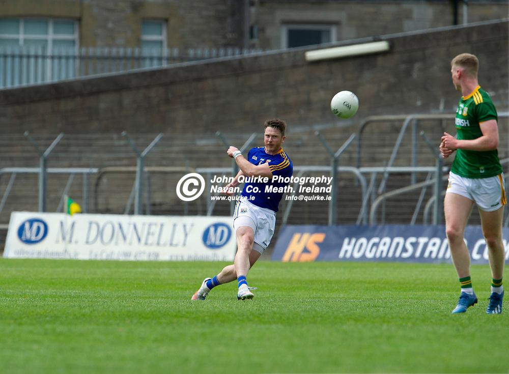 04-07-21. Meath v Longford - Leinster SFC Quarter-Final at Pairc Tailteann, Navan.<br /> Michael Quinn, Longford in action against Meath.<br /> Photo: John Quirke / www.quirke.ie<br /> ©John Quirke Photography, 16 Proudstown Road, Navan. Co. Meath. (info@quirke.ie / 046-9028461 / 087-2579454).