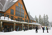 Cypress Mountain, the venue for freestyle skiing and snowboarding in the  2010 Vancouver Winter Olympics, British Columbia, Canada.