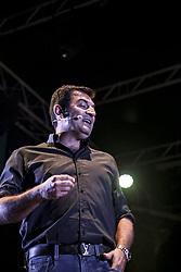 July 1, 2018 - Italy - The Roman comedian Max Giusti has performed at the Galleria Porta di Roma between music and comedy. (Credit Image: © Daniela Franceschelli/Pacific Press via ZUMA Wire)