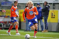 ÅLESUND 20110212. Aalesunds Jonathan Parr stormer i angrep under treningskampen i fotball mellom Aalesund og Hødd på Color Line Stadion i Ålesund lørdag ettermiddag.<br /> Foto: Svein Ove Ekornesvåg