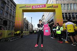 Amanda Holden ahead of the 2019 London Landmarks Half Marathon.
