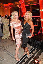 Left to right, ALEXIS KNOX and SHANIE RYAN at the Revlon Choose Love Masquerade Ball held at the V&A Museum, Cromwell Road, London on 21st July 2016.