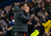 Football - 2019 / 2020 UEFA Champions League - Group H: Chelsea vs. Ajax<br /> <br /> Frank Lampard,  Manager of Chelsea FC,  after his side miss a golden opportunity to take the lead at Stamford Bridge <br /> <br /> COLORSPORT/DANIEL BEARHAM