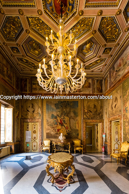 Interior of room  at Capitolini Museums in Rome Italy