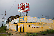 Store destroyed by Hurricane Katrina in New Orleans