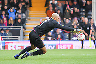 Carl Ikeme of Wolverhampton Wanderers making a save during the Sky Bet Championship match at Craven Cottage, London<br /> Picture by Richard Brooks/Focus Images Ltd 07947656233<br /> 18/03/2017