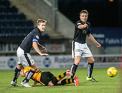 Falkirk's Will Vaulks and Falkirk's Peter Grant. <br /> Falkirk 5 v 0 Alloa Athletic, Scottish Championship game played at The Falkirk Stadium. © Ross Schofield