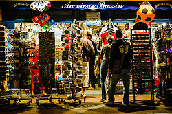 Late night shopping in Honfleur, France