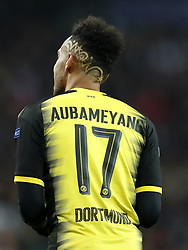Pierre-Emerick Aubameyang of Borussia Dortmund during the UEFA Champions League group H match between Real Madrid and Borussia Dortmund on December 06, 2017 at the Santiago Bernabeu stadium in Madrid, Spain.