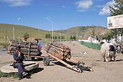 man at his stall at the Tsetserleg market, center Mongolia