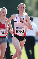 Aimee Pratt in the 1500m during the Loughborough International Athletics Meeting at the Paula Radcliffe Stadium, Loughborough. PRESS ASSOCIATION Photo. Picture date: Sunday May 20, 2018. See PA story ATHLETICS Loughborough. Photo credit should read: David Davies/PA Wire.