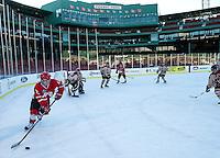 Frozen Fenway Hockey St Paul's School versus Governor's Academy January 8, 2014  ©2014 Karen Bobotas Photographer