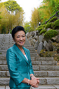 Chieko Hasegawa, Executive Vice President of the Nichido Museum of Art in the museum's grounds, Kasama city, Ibaraki, Japan, May 10, 2013.