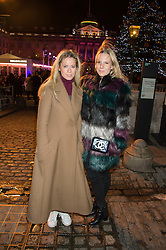Left to right, VIOLET VESTEY and ALICE NAYLOR-LEYLAND at the launch of Skate at Somerset House in association with Fortnum & Mason held at Somerset House, The Strand, London on 17th November 2015.