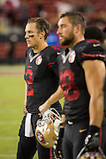 San Francisco 49ers quarterback Blaine Gabbert (2) watches from the sideline during a game against the Arizona Cardinals at Levi's Stadium in Santa Clara, Calif., on October 6, 2016. (Stan Olszewski/Special to S.F. Examiner)