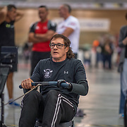 David Conradie MALE HEAVYWEIGHT Masters E 2K Race #2  08:45am<br /> <br /> www.rowingcelebration.com Competing on Concept 2 ergometers at the 2018 NZ Indoor Rowing Championships. Avanti Drome, Cambridge,  Saturday 24 November 2018 © Copyright photo Steve McArthur / @RowingCelebration