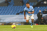 Manchester City forward Gabriel Jesus (9) during the Premier League match between Manchester City and Burnley at the Etihad Stadium, Manchester, England on 28 November 2020.
