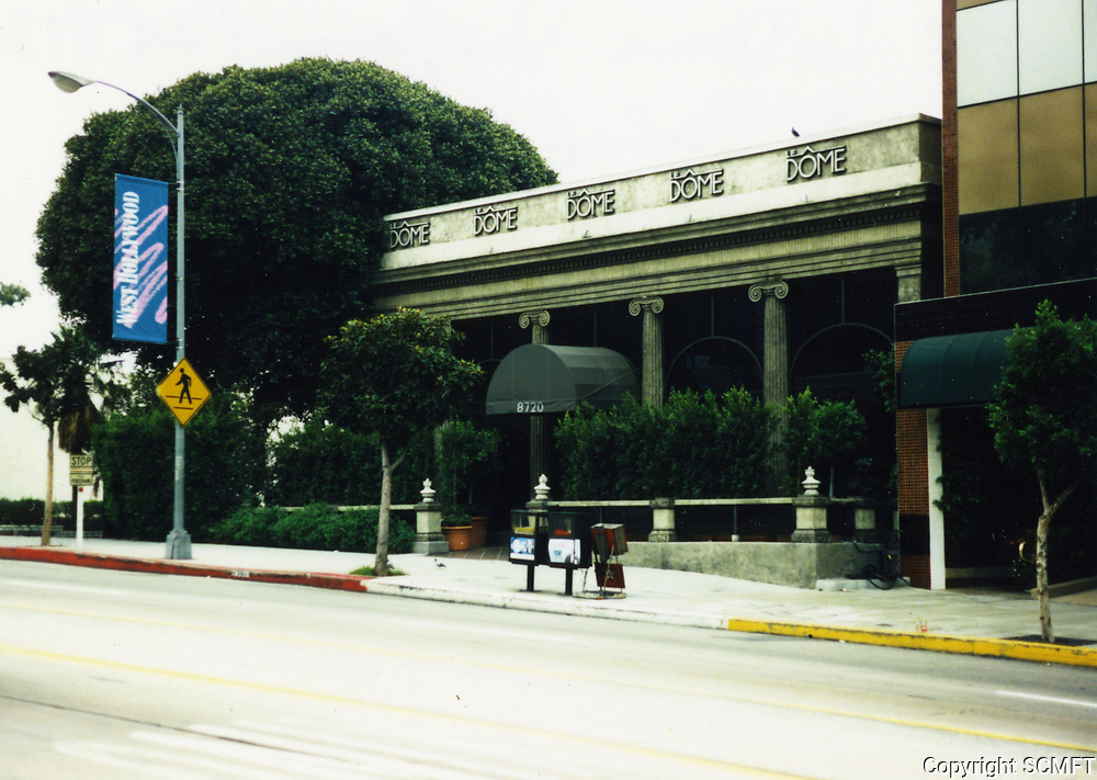 1988 Le Dome Restaurant on Sunset Blvd. in West Hollywood