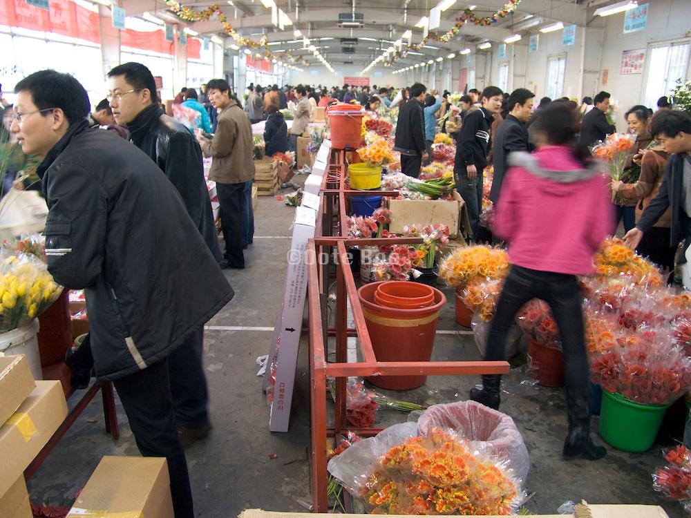 indoor flower market Beijing China
