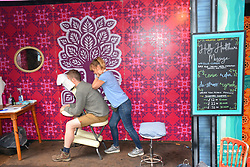 Latitude Festival, Henham Park, Suffolk, UK July 2019. Massage