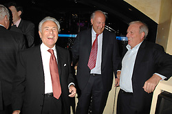 Left to right, LORD LEVY,  SIR VICTOR BLANK and KELVIN MACKENZIE at a party to celebrate the publication of Piers Morgan's book 'Don't You Know Who I Am?' held at Paper, 68 Regent Street, London W1 on 18th April 2007.<br />