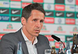 19.03.2013, Weserstadion, Bremen, GER, 1.FBL, Pressekonferenz SV Werder Bremen, im Bild Thomas Eichin (Geschaeftsfuehrer Sport, SV Werder Bremen) bei der Pressekonferenz zur Trennung von Thomas Schaaf (Trainer Werder Bremen) // during the press conference of the German Bundesliga Club SV Werder Bremen at the Weserstadion, Bremen, Germany on 2013/05/15. EXPA Pictures © 2013, PhotoCredit: EXPA/ Andreas Gumz ***** ATTENTION - OUT OF GER *****