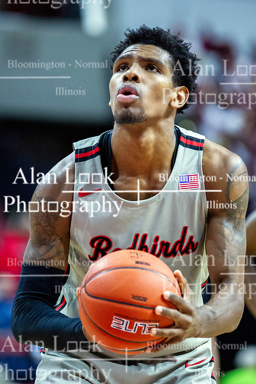 NORMAL, IL - February 08: Keith Fisher III during a college basketball game between the ISU Redbirds and the Indiana State Sycamores on February 08 2020 at Redbird Arena in Normal, IL. (Photo by Alan Look)