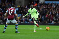 Yaya Toure of Manchester city (r) in action .Barclays Premier league match, Aston Villa v Manchester city at Villa Park in Birmingham, Midlands  on Sunday 8th November 2015.<br /> pic by  Andrew Orchard, Andrew Orchard sports photography.