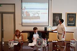 Robert Verlic predstavljan novo spletno stran na tiskovni konferenci HZS pred skupscino Hokejske zveze Slovenije, on September 7, 2011, in Ljubljana, Slovenia. (Photo by Matic Klansek Velej / Sportida)
