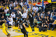 Milwaukee Bucks guard Jason Terry (3) dunks the ball on a Golden State Warriors turnover at Oracle Arena in Oakland, Calif., on March 29, 2018. (Stan Olszewski/Special to S.F. Examiner)