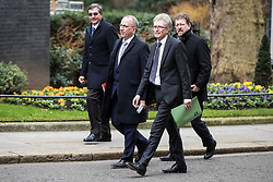 © Licensed to London News Pictures. 08/02/2018. London, UK. Ian Howells, Senior Vice President of Honda, and other business leaders, arrive at 10 Downing Street for a roundtable discussion with Prime Minister Theresa May, The Chancellor of The Exchequer Philip Hammond and select Cabinet Ministers on Japanese business and Brexit. Photo credit: Rob Pinney/LNP