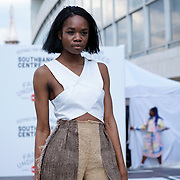 London,England,UK: 23th July 2016: Designer Hana Minowa showcases is one anc only masterpieces from Hackney-based charity Fashion Awareness Direct (FAD) showcases at the Fashion Undressed with MasterCard at the Royal Festival Hall, Southbank, London,UK. Photo by See Li