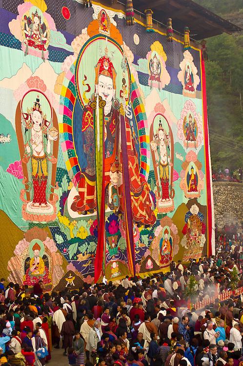 Shugdrel ceremony, Paro Teschu festival, Paro Dzong Monastery,  Paro Valley, Bhutan