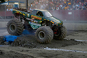 MONSTER TRUCK_Avenger competing at the Monster Truck Challenge at the Orange County (NY) Fair Speedway.