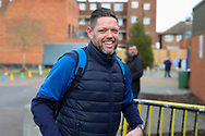AFC Wimbledon goalkeeping coach Ashley Bayes arriving for the game during the EFL Sky Bet League 1 match between AFC Wimbledon and Fleetwood Town at the Cherry Red Records Stadium, Kingston, England on 8 February 2020.