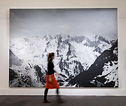 A member of staff walks pass Untitled 2009 by Rudolf Stingel on February 22nd, 2018 at the preview for Sothebys upcoming Impressionist, Modern and Surrealist Art auction at Sothebys in New Bond Street, London, England.