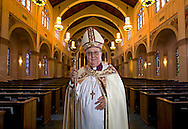 Bishop Leo Frade, the head of the Episcopal Diocese of Southeast Florida, at Trinity Episcopal Cathedral. Bishop Frade will be officially stepping down from his post in January, but on Saturday the transition process will start with the consecration of the new bishop at Trinity Cathedral.