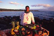 Sam Choy, Hawaiian chef, Hawaii (editorial use only, no model release)<br />