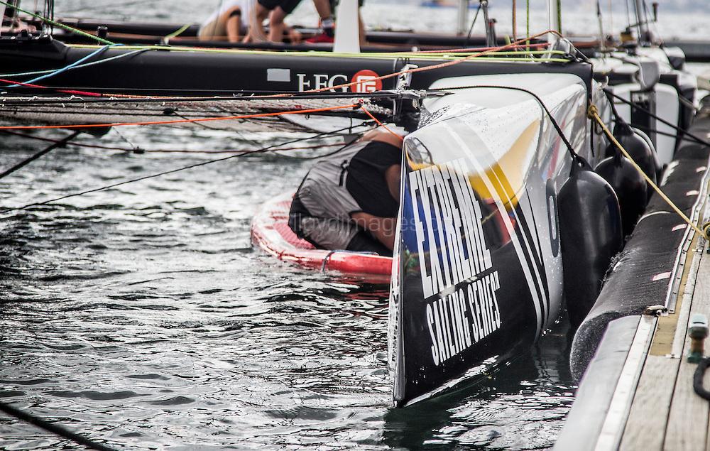 The Extreme sailing Series 2016. Act 8. Sydney. Australia . Practice day. Image licensed to Jesus Renedo