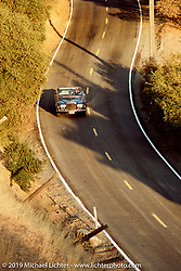 Arlen Ness out on a drive in his Rolls Royce Corniche convertible in the northern California hills. Photograph ©Michael Lichter 1987