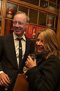 ANTONY QUINN; RACHEL COOKE, The Omnivore hosts the third Hatchet  Job of the Year Award. Sponsored by the Fish Society.  The Coach and Horses. Greek st. Soho. London. 11 February 2014.