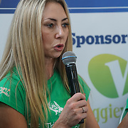 London, England, UK. 20th October 2017.  Speaker Annie's Robertson-Connolly talk How you can use your position to become a positive role model for veganism at the Vegen Celebrity Zone.