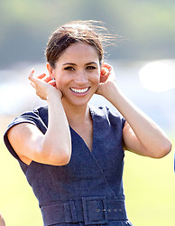 The Duchess of Sussex during the Sentebale ISPS Handa Polo Cup at the Royal County of Berkshire Polo Club in Windsor.