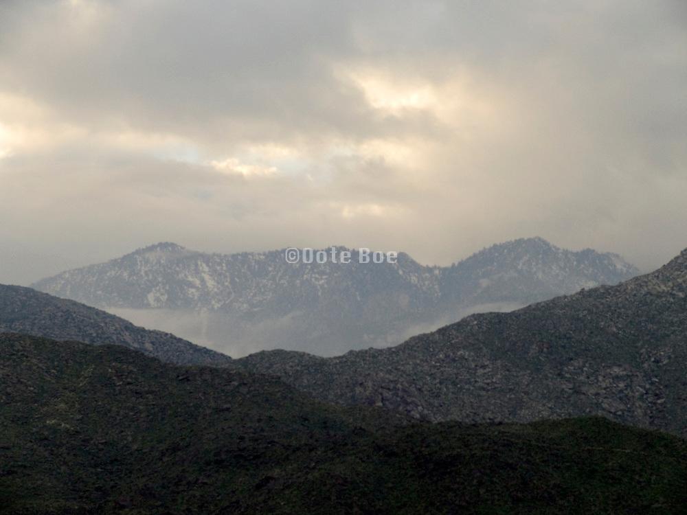 mountain peaks near Palm Springs USA