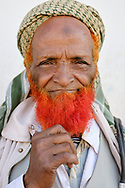 Man from Harar, Ethiopia. Some Muslim men decide to dye their beards red after completing the pilgrimage to Mecca.