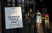 """The """"Corner Table Podcast"""" recording at Old Sugar Distillery in Madison, Wisconsin, Tuesday, June 18, 2019."""
