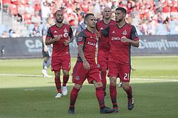 August 12, 2018 - Toronto, Ontario, Canada - MLS Game at BMO Field 2-3 New York City. IN PICTURE: SEBASTIAN GIOVINCO, JONATHAN OSORIO (Credit Image: © Angel Marchini via ZUMA Wire)