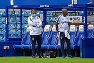 Queens Park Rangers backroom staff before the EFL Sky Bet Championship match between Queens Park Rangers and Barnsley at the Kiyan Prince Foundation Stadium, London, England on 20 June 2020.