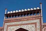 The Great Gate, Darwaza-i rauza, of The Taj Mahal Complex, southern gateway entrance, Uttar Pradesh, India
