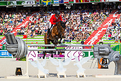 Paul Estermann, (SUI), Castlefield Eclipse, World Champions, - Second Round Team Competition - Alltech FEI World Equestrian Games™ 2014 - Normandy, France.<br /> © Hippo Foto Team - Leanjo De Koster<br /> 25/06/14